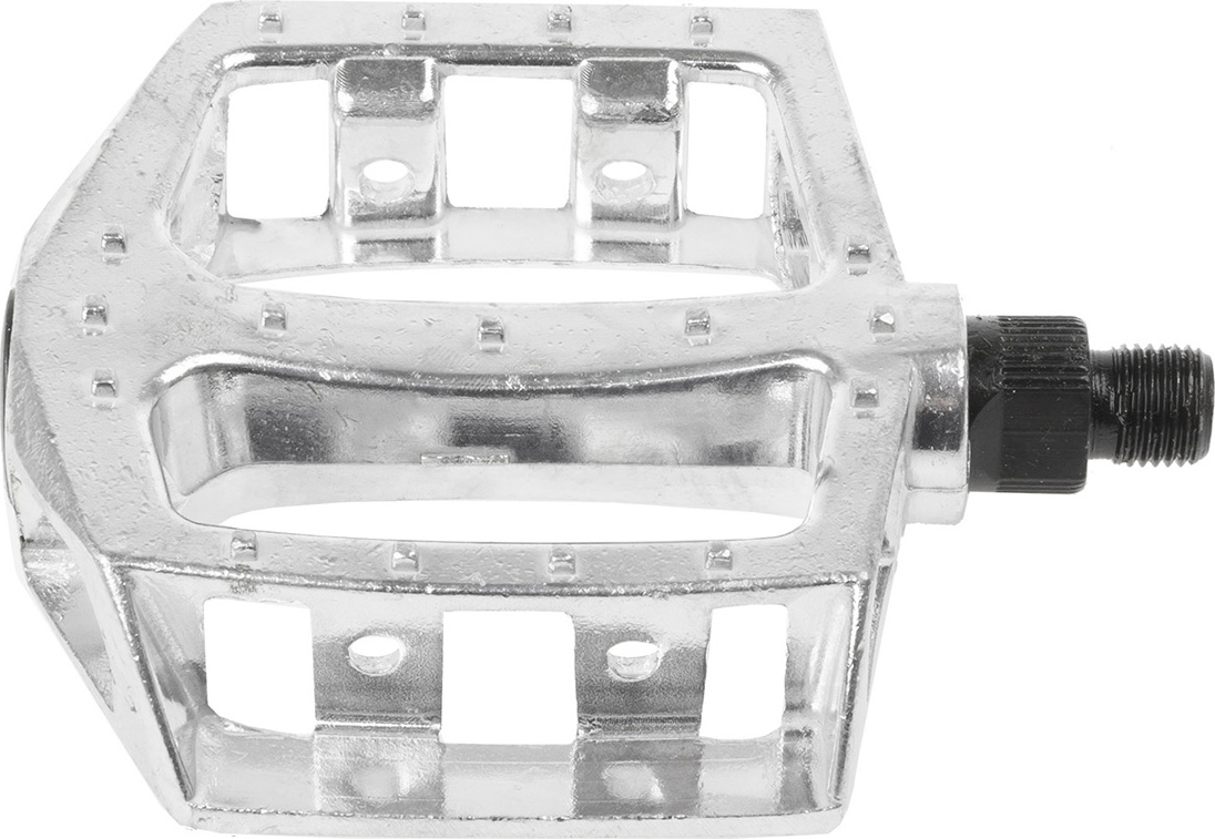 Педали Messingshlager BMX , алюминиевые, для 20-28, ось 1/2 дюйма, цвет: серебряный, 2 шт