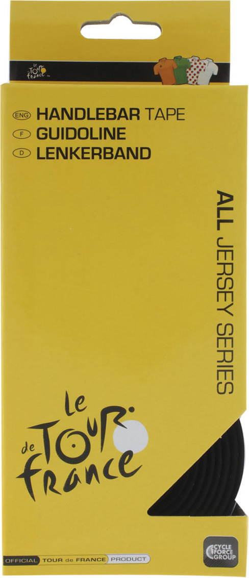 Обмотка руля Tour de France, 2х160 + 2х8,5 см, цвет: черный tour de france 100