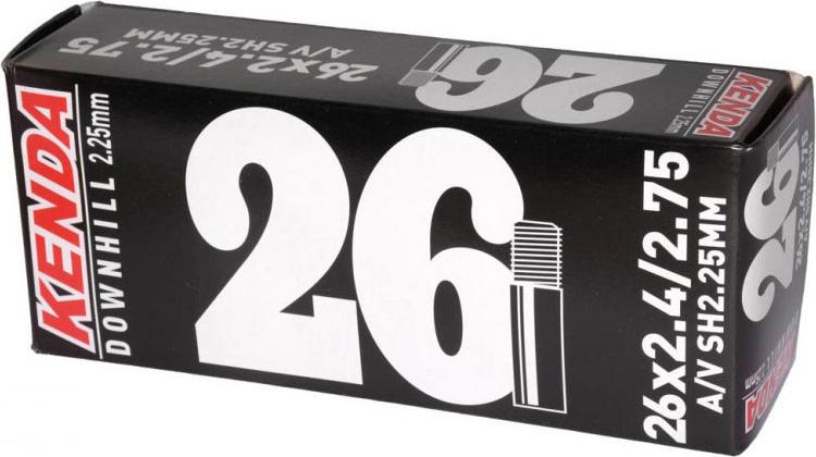 Велокамера Kenda 26''x2.4-2.75, Downhill, стенка 2, 25 мм, a/v велопокрышка kenda k193 14 16 20 26 1 25 1 5