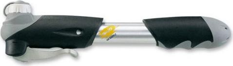 Велосипедный насос Giyo, AL корпус, универсальный, двухходовой, с манометром двойного направления, складная Т- образная ручка