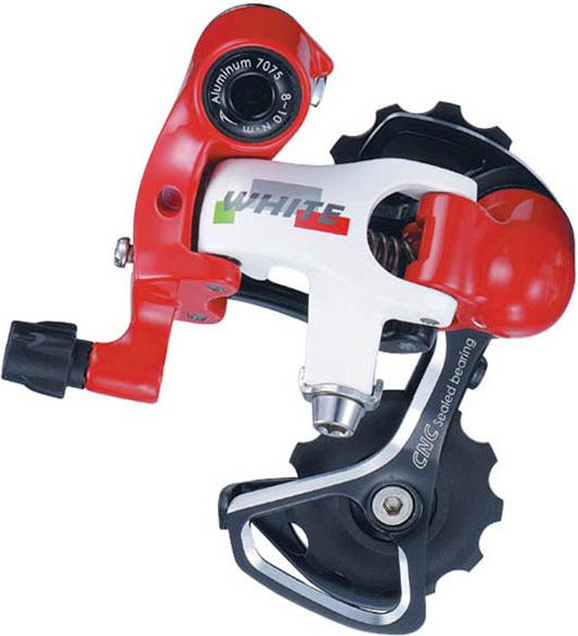 Задний переключатель Microshift Centos RD-R67S-R, для 2x10ск (11-28T), цвет: красный