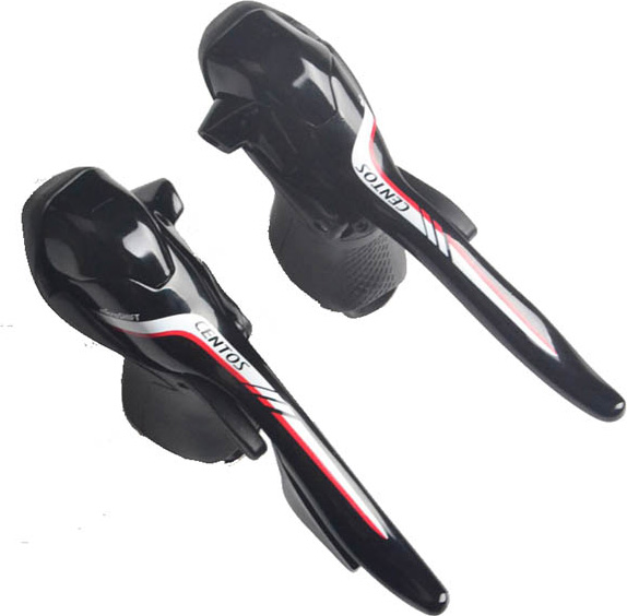 Шифтер/тормозная ручка Microshift Centos SB-R402E (правая+левая), 2x10ск шифтер тормозная ручка microshift centos sb r402e правая левая 2x10 ск
