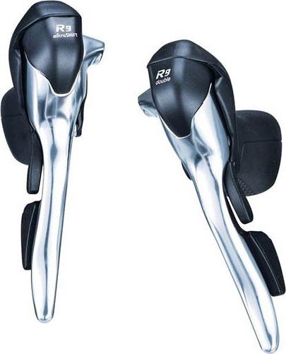 Тормозная ручка Microshift R9 SB-R492 (правая+левая), 2x9ск шифтер тормозная ручка microshift centos sb r402e правая левая 2x10 ск