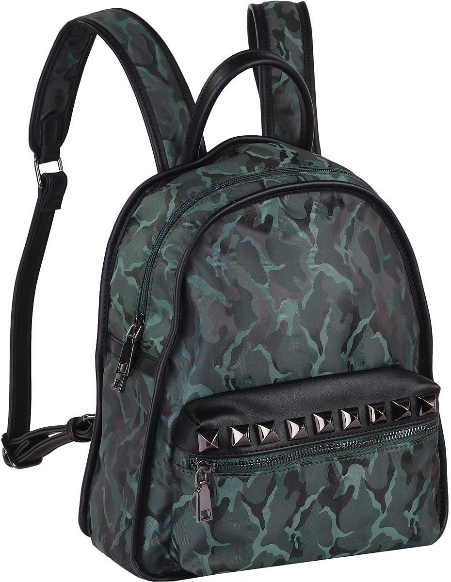 Рюкзак женский Pola, цвет: темно-зеленый. 74547