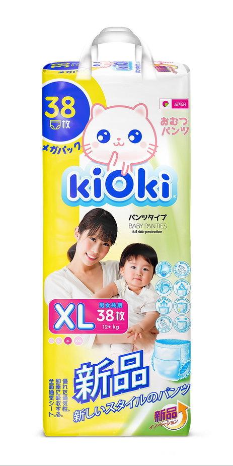 Kioki Подгузники-трусики детские XL 12-16 кг 38 шт kioki шторка солнцезащитная на заднее стекло 100 50 см kioki cf29