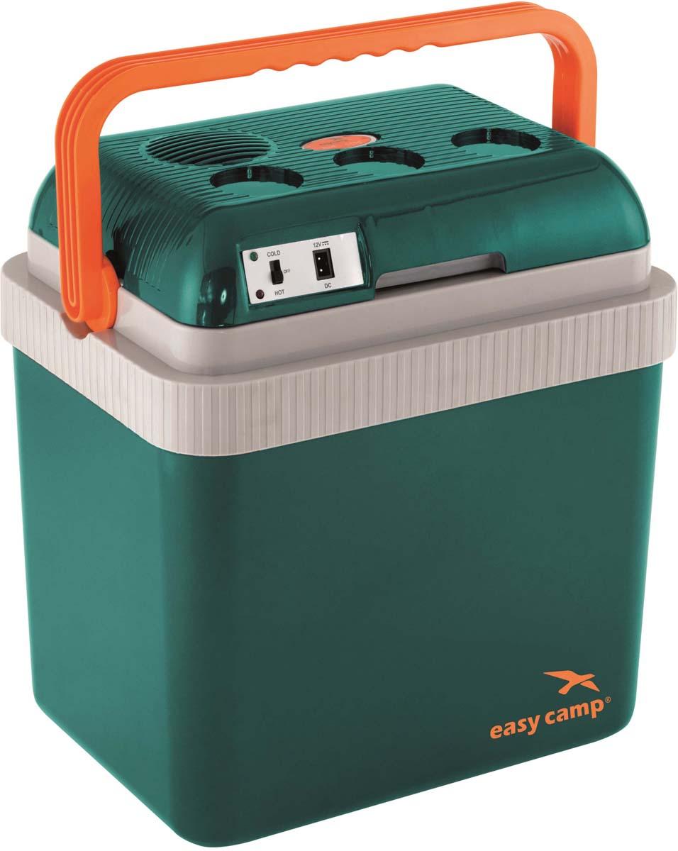 """Комфортная сумка-холодильник Easy Camp """"Chilly"""" объемом 24 литра обладает охлаждающей и нагревательной функцией. Охлаждает на 15-18 °C ниже температуры воздуха, нагревает до 50 °C. Имеет удобную ручку для переноски, откидывающуюся крышку, внутренний разделитель и съемный поддон для продуктов."""