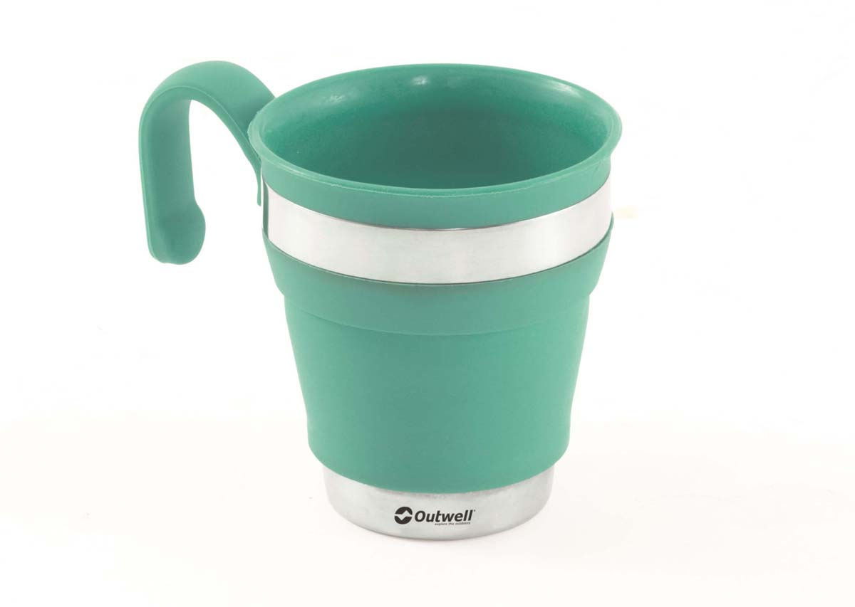 Кружка складная Outwell Collaps Mug Turquoise Blue, цвет: синий, 13,5 см кружка outwell collaps mug green 650340