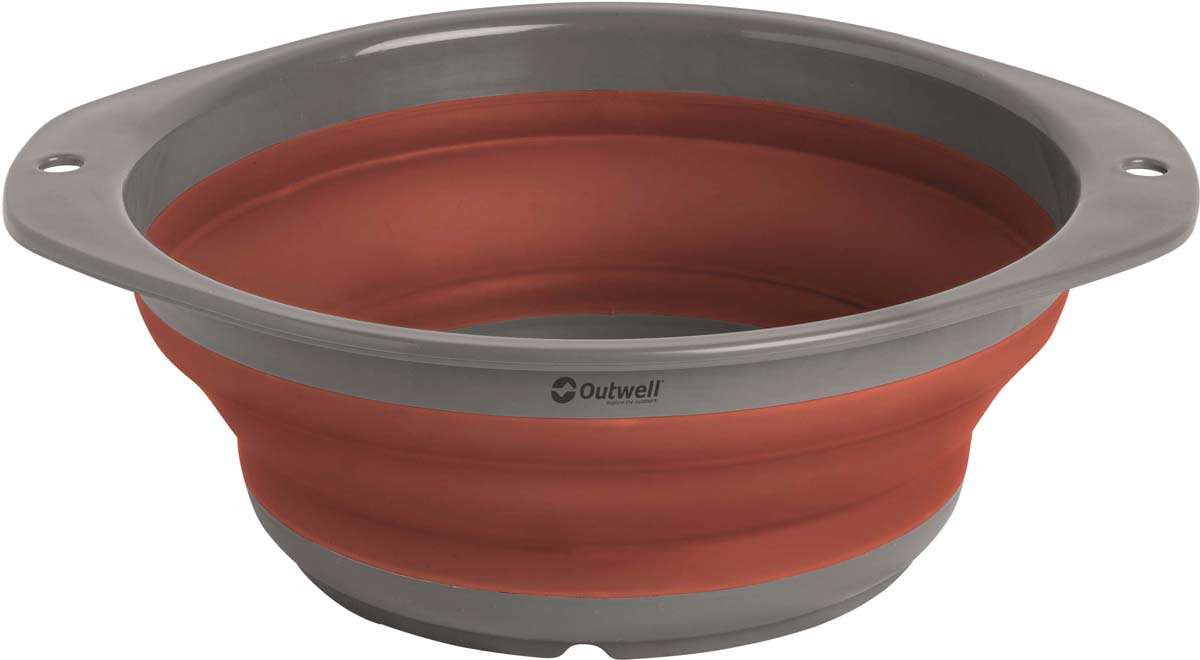 Миска складная Outwell Collaps Bowl M Terracotta, цвет: коричневый, 9,5 х 23,5 см кружка outwell collaps mug green 650340