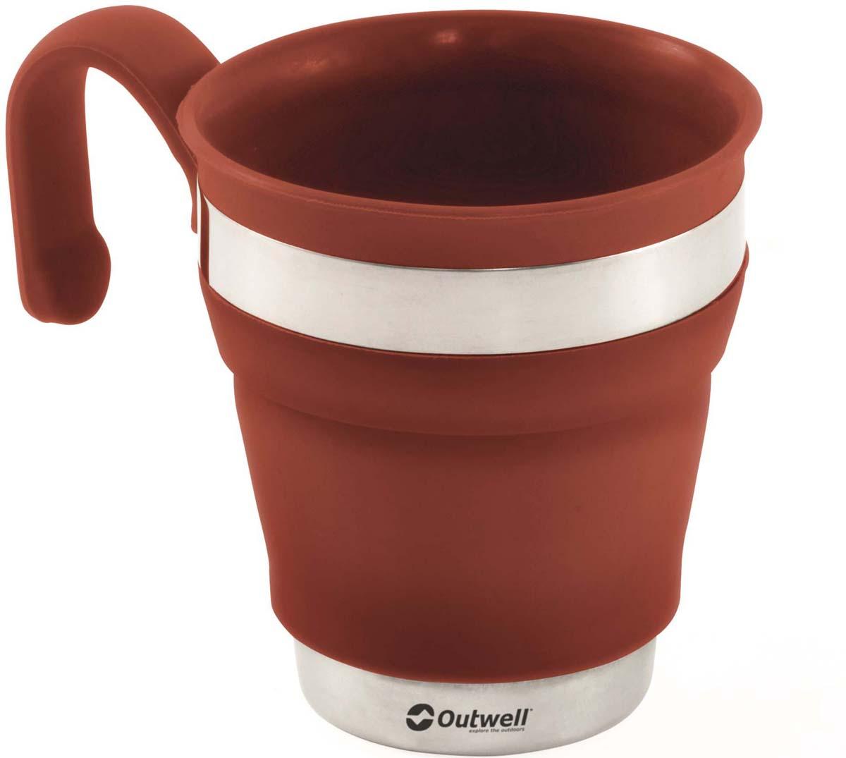 кружка складная Outwell Collaps Mug Terracotta, цвет: коричневый, 13,5 х 9,5 см650715Складная кружка из силикона и нержавеющей стали. Особенности:Складная.Компактная в сложенном виде.Легко развернуть и сложить.Удобная ручка.В состав не входит Бисфенол А.Ударопрочная.