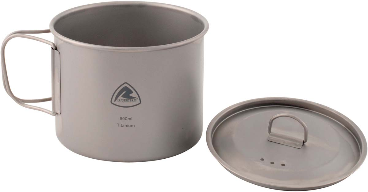 Котелок Robens Titanium Pot, с крышкой, для газа, 900 мл