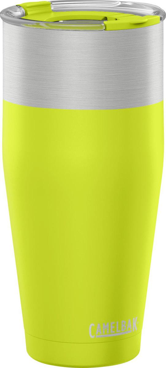 """Вакуумная термокружка Camelbak """"Kickbak"""" выполнена из нержавеющей стали, без BPA, BPS, BPF. Не впитывает запахи. Держит холодную температуру 8 часов, горячую 4 часа. Оригинальная двойная крышка с разными отверстиями. Эргономичный корпус - удобно держать и входит в большинство подстаканников. Любимая вещь на природе, дома и в офисе!"""