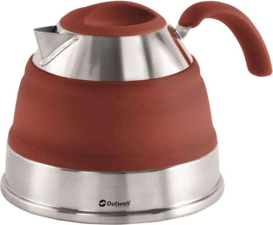 Чайник складной Outwell Collaps Kettle Terracotta, цвет: коричневый, 1,5 л