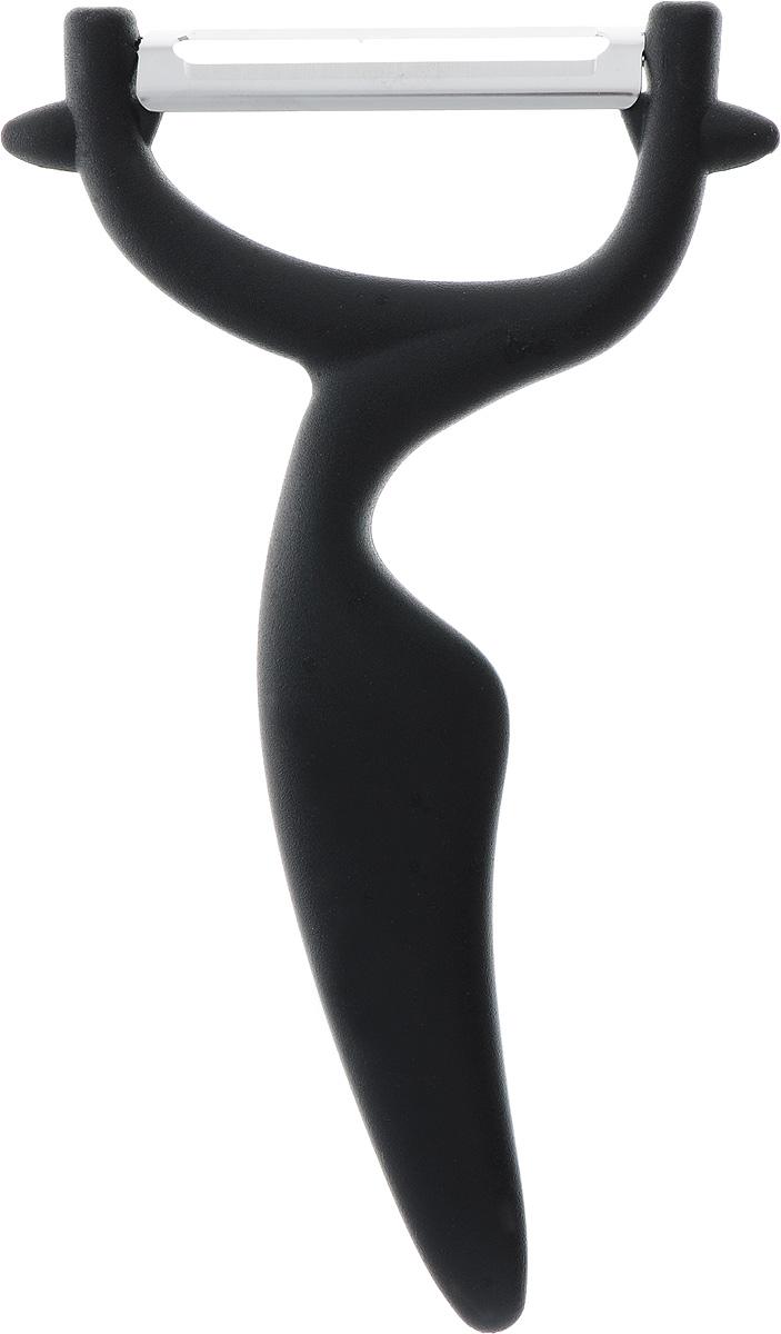 "Овощечистка ""Primani"", цвет: черный, 15 x 8 x 1,5 см"