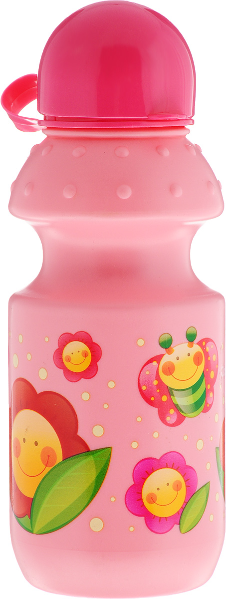 Canpol Babies Поильник спортивный от 12 месяцев цвет розовый бабочка и цветы 360 мл поильники canpol babies поильник спортивный с крышкой и трубочкой 400 мл 12 vehicles цвет розовый рисунок сова