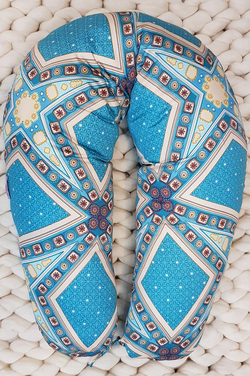 цена на 40 недель Подушка для беременных и кормящих 170 см цвет бирюзовый медный бежевый