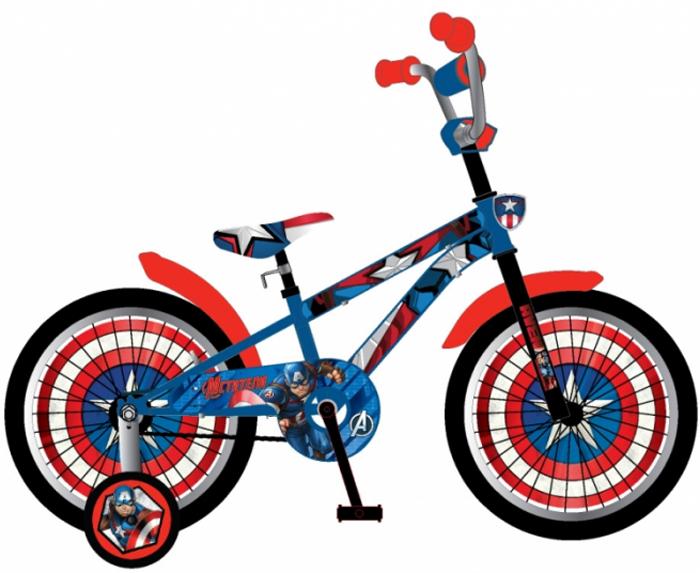 Велосипед детский Marvel Мстители, цвет: синий, колесо, 18