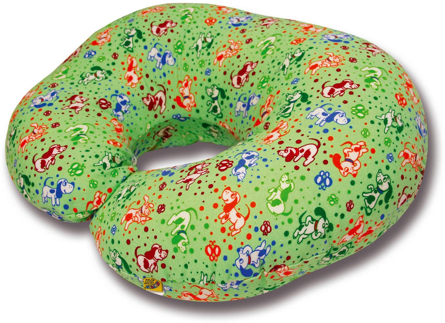 Штучки, к которым тянутся ручки Подушка для кормящих и беременных С-образная цвет зеленый
