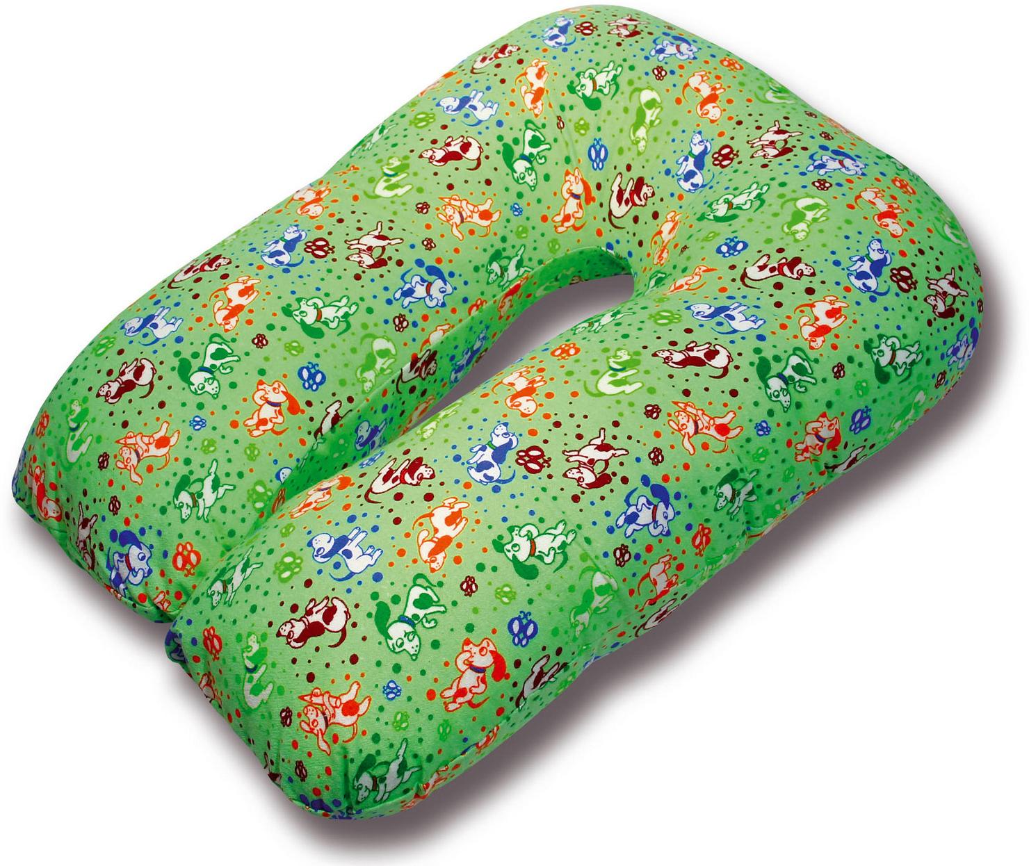 Штучки, к которым тянутся ручки Подушка для кормящих и беременных U-образная цвет зеленый