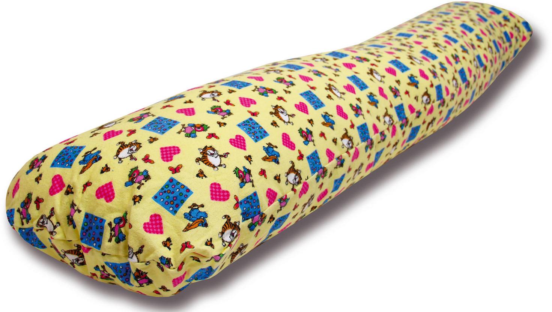 Штучки, к которым тянутся ручки Подушка для кормящих и беременных I-образная цвет желтый