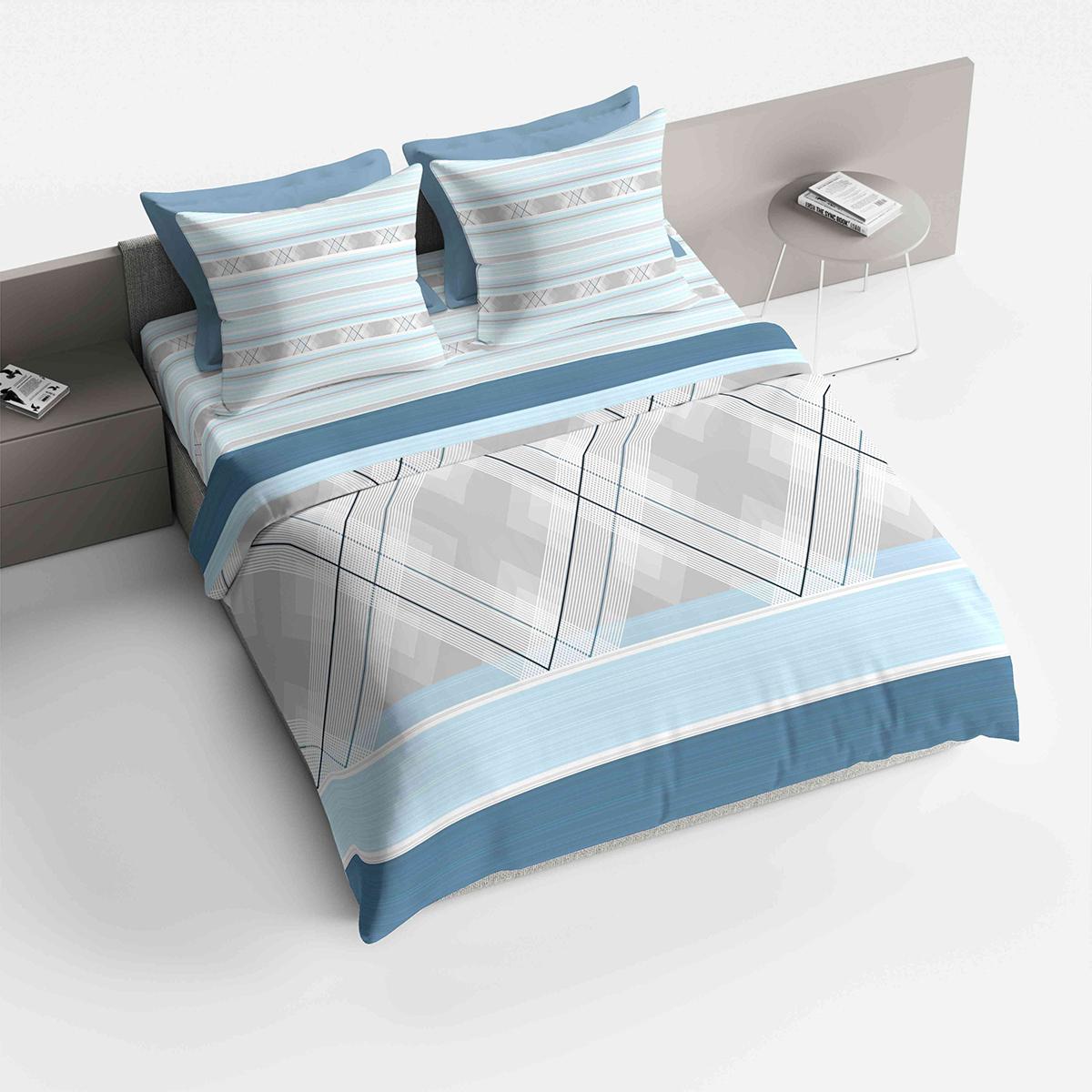 """Комплект белья Браво """"Лоренцо"""", 2-спальный, наволочки 70х70, цвет: голубой"""