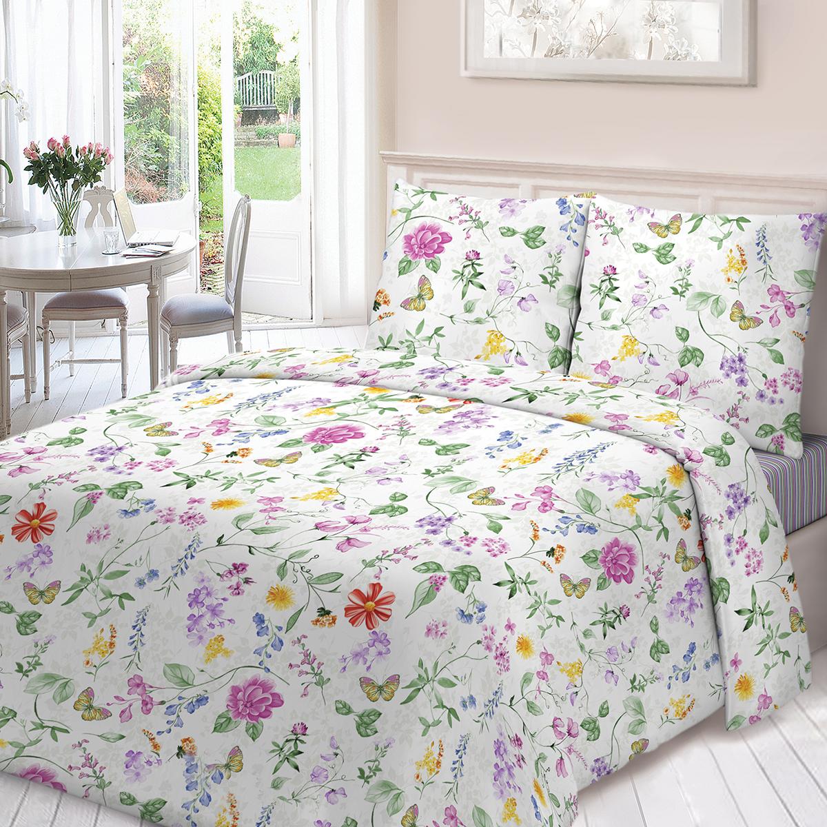 Комплект белья Для Снов Валенсия, 1,5-спальный, наволочки 70х70, цвет: белый комплекты белья