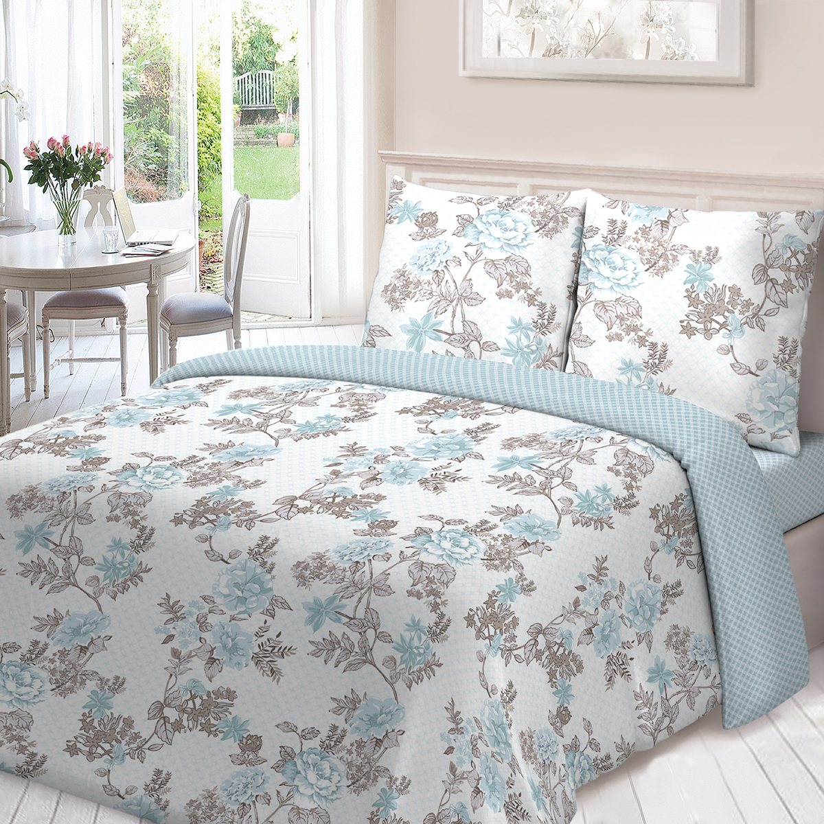 Комплект белья Для Снов Жизель, 1,5-спальный, наволочки 70х70, цвет: белый комплекты белья