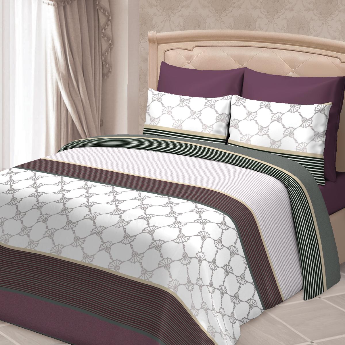 Комплект белья Сорренто Селестия, евро, наволочки 70х70, цвет: бордовый комплекты белья