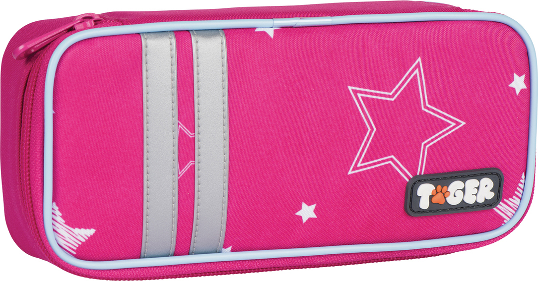 Tiger Family Пенал Twinkle Stars цвет розовый 227008 -  Пеналы
