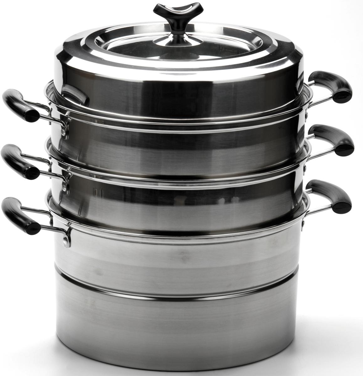 """Мантоварка 4-ярусная """"Mayer & Boch"""" выполнена из высококачественной нержавеющей стали. Мантоварка - это специальная многоуровневая кастрюля с помощью которой можно готовить блюда на пару. Через отверстия в днищах ярусов происходит доступ пара от кипящей воды к приготовляемым продуктам. Идеально подходит для блюд национальной кухни: мант, поз, паровых пельменей и т.п. Кроме этого, на пару можно готовить множество других полезных диетических блюд. Мантоварка оснащена удобными бакелитовыми ручками и стеклянной крышкой, через которую можно наблюдать за процессом готовки. Подходит для всех типов плит. Подходит для мытья в посудомоечной машине."""