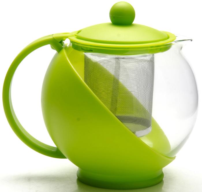 Заварочный чайник MAYER&BOCH с металлическим фильтром/ситечком изготовлен из термостойкого боросиликатного стекла. Корпус и крышка из цветного пластика, фильтр из нержавеющей стали, внутренняя колба из стекла. Изделия из стекла не впитывают запахи, благодаря чему вы всегда получите натуральный, насыщенный вкус и аромат напитков. Заварочный чайник из стекла удобно использовать для повседневного заваривания чая любого сорта. Сетчатый металлический фильтр гарантирует прозрачность и чистоту напитка от чайных листьев, при этом сохранив букет и насыщенность чая. Прозрачные стенки чайника дают возможность насладиться насыщенным цветом заваренного чая. Эстетичный и функциональный, заварочный чайник MAYER&BOCH будет прекрасно смотреться в любом интерьере и послужит хорошим подарком для друзей и близких! Подходит для мытья в посудомоечной машине.