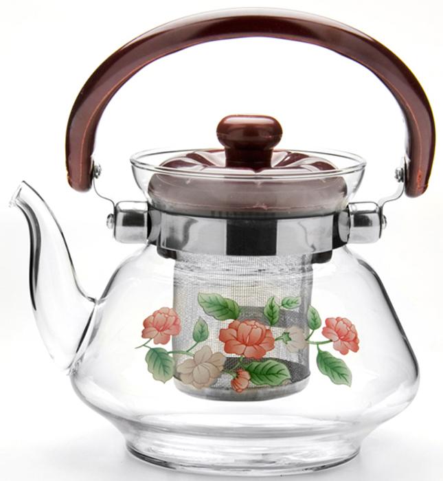 Заварочный чайник MAYER&BOCH, выполненный из термостойкого стекла, предоставит вам все необходимые возможности для успешного  заваривания чая. Чайник оснащен пластиковой ручкой, крышкой и сетчатым фильтром из нержавеющей стали, который задерживает чаинки и  предотвращает их попадание в чашку. Чай в таком чайнике дольше остается горячим, а полезные и ароматические вещества полностью  сохраняются в напитке. Эстетичный и функциональный чайник будет оригинально смотреться в любом интерьере. Материал: термостойкое стекло, пластик, нержавеющая сталь. Вес: 560 г.