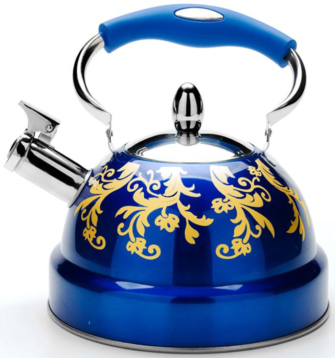 Чайник MAYER&BOCH изготовлен из высококачественной нержавеющей стали. Изделия из нержавеющей стали не окисляются и не впитывают запахи, благодаря чему вы всегда получите натуральный, насыщенный вкус и аромат напитков. Капсулированное дно с прослойкой из алюминия обеспечивает наилучшее распределение тепла. Удобная подвижная ручка выполнена из нержавеющей стали и бакелита. Носик чайника оснащен насадкой-свистком, который позволяет контролировать процесс кипячения или подогрева воды. Поверхность чайника гладкая и покрыта цветным термостойким лаком, что облегчает уход за ним. Красивый и функциональный, с эксклюзивным дизайном, чайник будет оригинально смотреться на любой кухне. Подходит для использования на всех типах плит, включая индукционные. Подходит для мытья в посудомоечной машине.