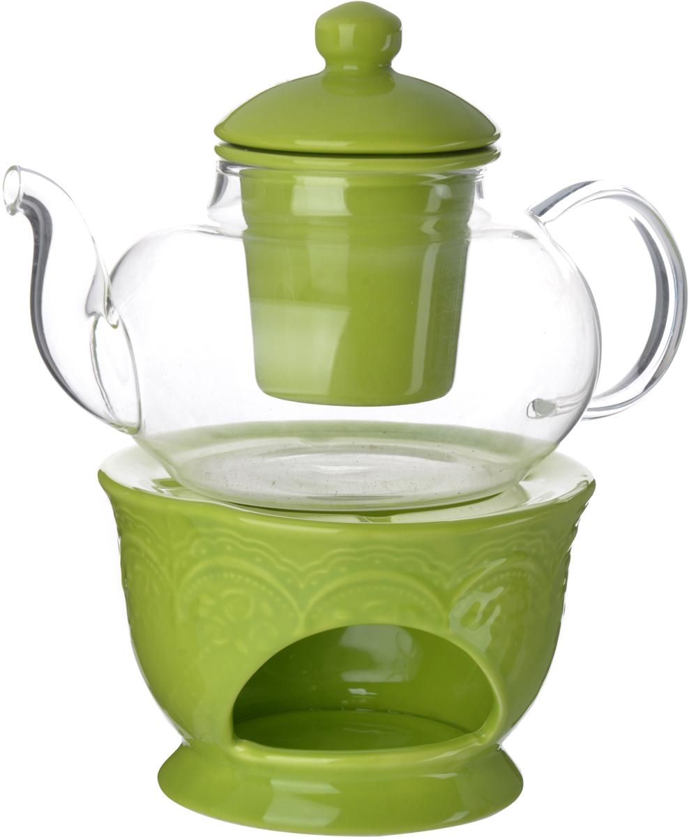Заварочный чайник LORAINE изготовлен из термостойкого стекла. Чайник оснащен фарфоровой подставкой для подогрева, рассчитанной на одну греющую свечу. Изделия из стекла не впитывают запахи, благодаря чему Вы всегда получите натуральный, насыщенный вкус и аромат напитков. Заварочный чайник из стекла удобно использовать для повседневного заваривания чая практически любого сорта, но цветочные, фруктовые, красные и желтые сорта чая лучше других раскрывают свой вкус и аромат при заваривании именно в стеклянных чайниках, а также сохраняют все полезные ферменты и витамины, содержащиеся в чайных листах. Фарфоровый фильтр гарантирует прозрачность и чистоту напитка от чайных листьев, при этом сохранив букет и насыщенность чая. Прозрачные стенки чайника дают возможность насладиться насыщенным цветом заваренного чая. Изящный заварочный чайник LORAINE будет прекрасно смотреться в любом интерьере. Не подходит для использования в микроволновой печи. Подходит для мытья в посудомоечной машине.