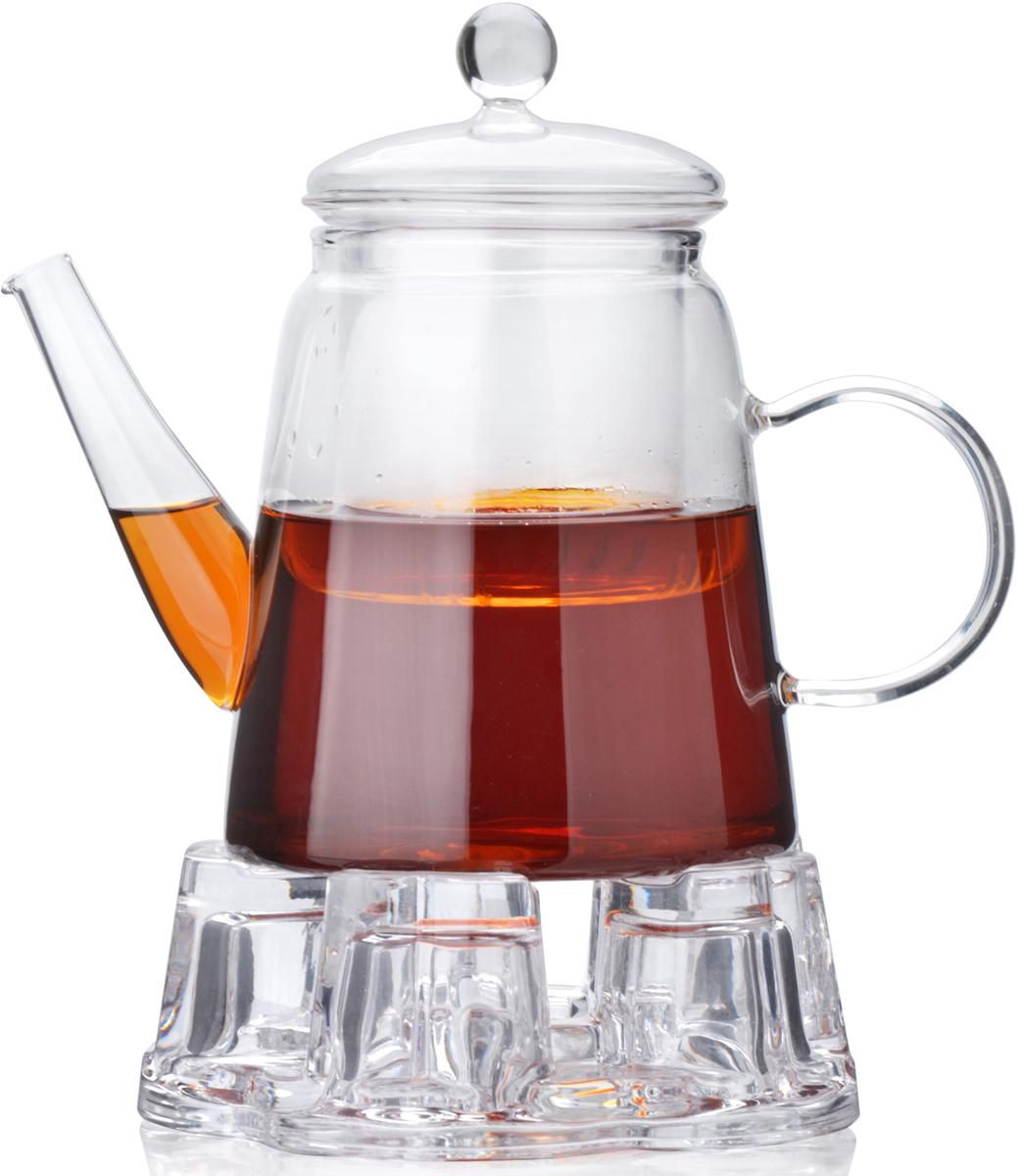 Заварочный чайник MAYER&BOCH изготовлен из термостойкого боросиликатного стекла. Чайник оснащен стеклянной подставкой для подогрева, рассчитанной на одну греющую свечу. Изделия из стекла не впитывают запахи, благодаря чему Вы всегда получите натуральный, насыщенный вкус и аромат напитков. Заварочный чайник из стекла удобно использовать для повседневного заваривания чая практически любого сорта, но цветочные, фруктовые, красные и желтые сорта чая лучше других раскрывают свой вкус и аромат при заваривании именно в стеклянных чайниках, а также сохраняют все полезные ферменты и витамины, содержащиеся в чайных листах. Стеклянный фильтр гарантирует прозрачность и чистоту напитка от чайных листьев, при этом сохранив букет и насыщенность чая. Прозрачные стенки чайника дают возможность насладиться насыщенным цветом заваренного чая. Изящный заварочный чайник MAYER&BOCH будет прекрасно смотреться в любом интерьере. Не подходит для использования в микроволновой печи. Подходит для мытья в посудомоечной машине.