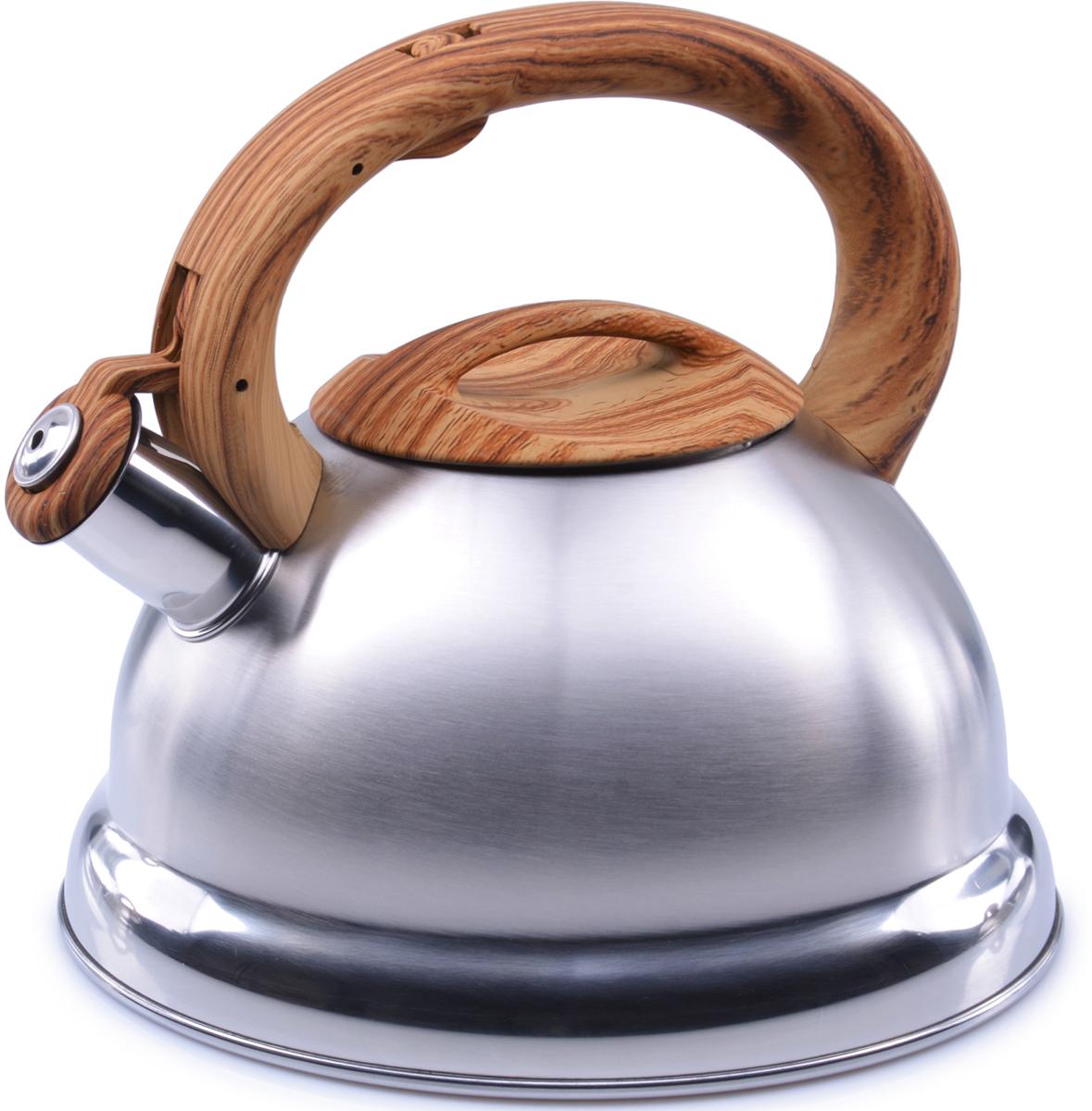Чайник MAYER&BOCH изготовлен из высококачественной нержавеющей стали (CrNi 18/10). Изделия из нержавеющей стали не окисляются и не впитывают запахи, благодаря чему вы всегда получите натуральный, насыщенный вкус и аромат напитков. Капсулированное дно с прослойкой из алюминия обеспечивает наилучшее распределение тепла. Фиксированная эргономичная ручка выполнена из бакелита, также на ручке расположена клавиша механизма открывания носика. Носик чайника оснащен насадкой-свистком, который позволяет контролировать процесс кипячения или подогрева воды. Поверхность чайника гладкая, что облегчает уход за ним. Эстетичный и функциональный, с современным дизайном, чайник будет замечательно смотреться на любой кухне. Подходит для использования на всех типах плит, включая индукционные. Подходит для мытья в посудомоечной машине.