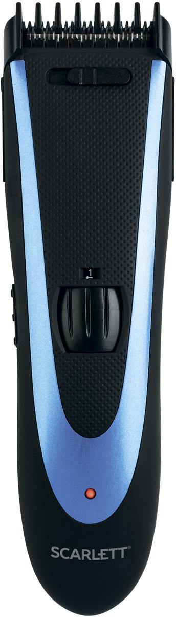 Scarlett SC-HC63C59, Black Blueмашинка для стрижки 2в 1 – стрижка волос и моделирование бороды; Работа от сети и...