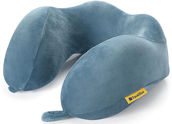 Подушка для путешествий Travel Blue Tranquility Pillow, с эффектом памяти, цвет: синий, 25 х 25 х 10 см