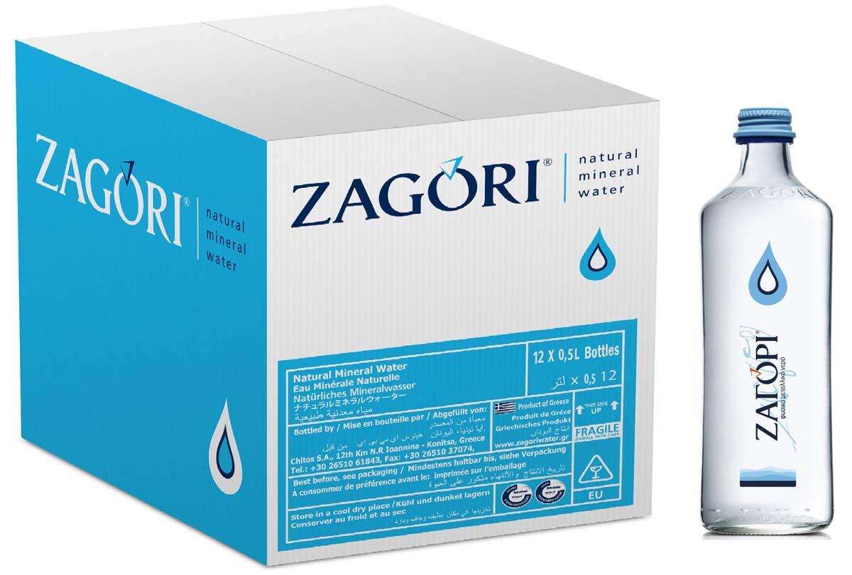 Zagori Вода природная минеральная столовая негазированная, 12 шт по 0,5 л стекло zagori вода природная минеральная столовая негазированная 12 шт по 1 л