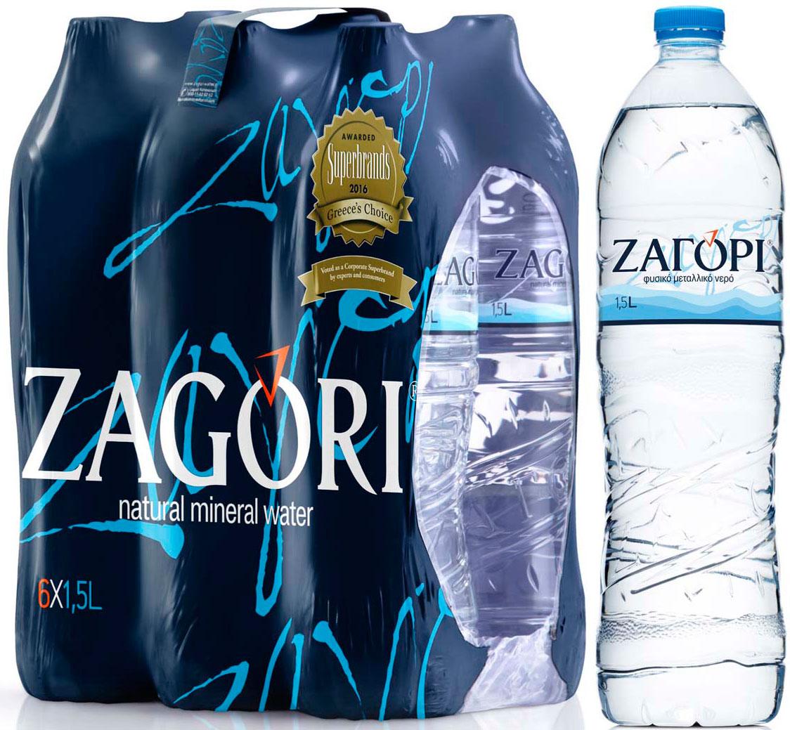 Zagori Вода природная минеральная столовая негазированная, 6 шт по 1,5 л zagori вода природная минеральная столовая негазированная 12 шт по 1 л