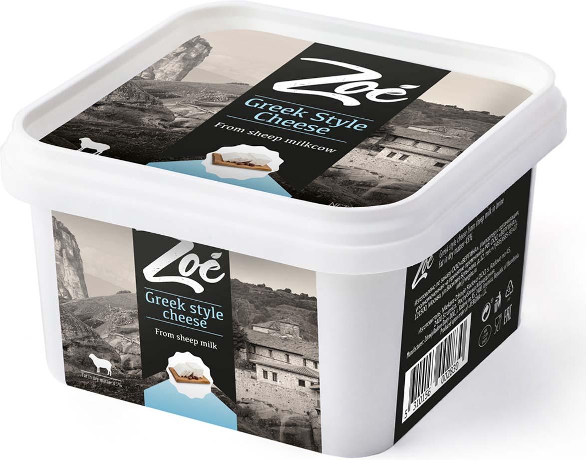 Zoe Сыр Фета из овечьего молока в рассоле 45%, 300 г pasteroni ригате 129 450 г