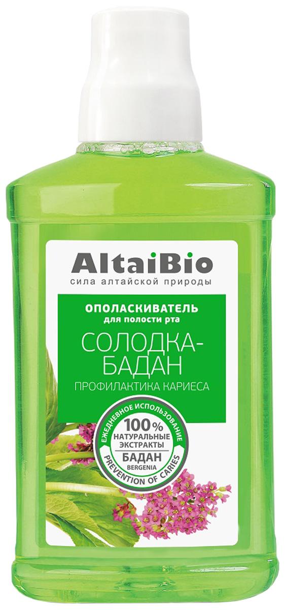 AltaiBio Ополаскиватель для полости рта Профилактика кариеса Солодка-Бадан, 400 мл r o c s ополаскиватель для полости рта грейпфрут 400 мл