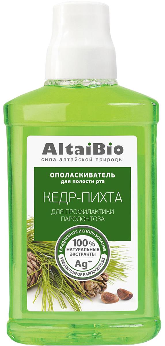 AltaiBio Ополаскиватель для полости рта Профилактика пародонтоза Кедр-Пихта, 400 мл r o c s ополаскиватель для полости рта грейпфрут 400 мл