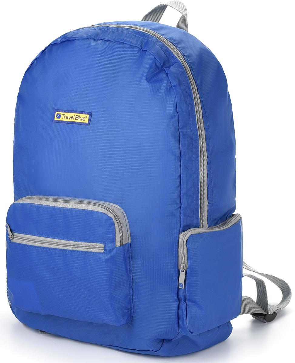 Складной рюкзак Travel Blue Foldable Backpack подходит как для путешествий, так и для повседневного использования. Объем 20 л позволяет положить в рюкзак запасные кеды и ветровку, путеводитель, разговорник, а также портативную зарядку, фотоаппарат и другие гаджеты. Foldable Backpack имеет классическую для рюкзака форму, он пошит из тонкого, но прочного полиэстера черного цвета. В боковые карманы рюкзака входят бутылка воды, термос или зонт. - Вместительный: объем 20 литров. - Компактный: в свернутом виде помещается в карман. - Размер в разложенном виде: 41 х 31 х 13 см. - Чехол можно использовать в качестве внешнего кармана.