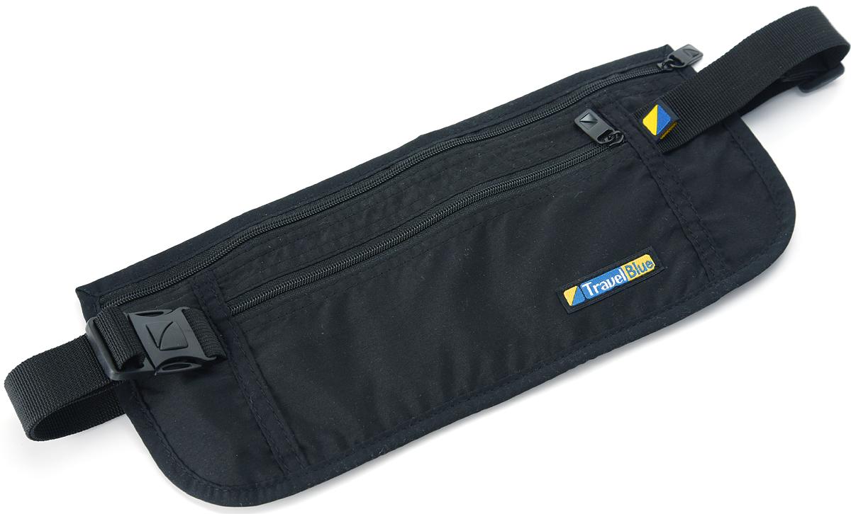 Сумка-кошелек на пояс Travel Blue Ultra Slim Money Safe, цвет: черный, 11 х 26 см