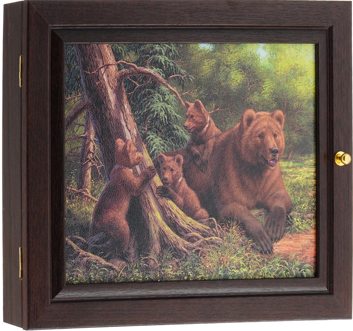 Ключница настенная Медведи, 26 х 31 см ключница настенная медведи 26 х 31 см