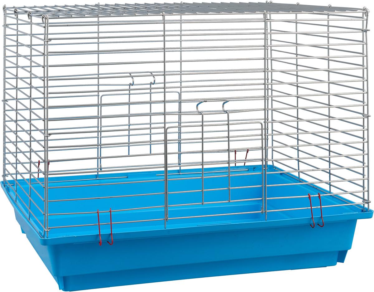 Клетка для грызунов Велес, с полками, цвет: голубой, 40 х 58 х 45 см клетка для грызунов i p t s mini с игровым комплексом 32 см х 20 см х 24 см