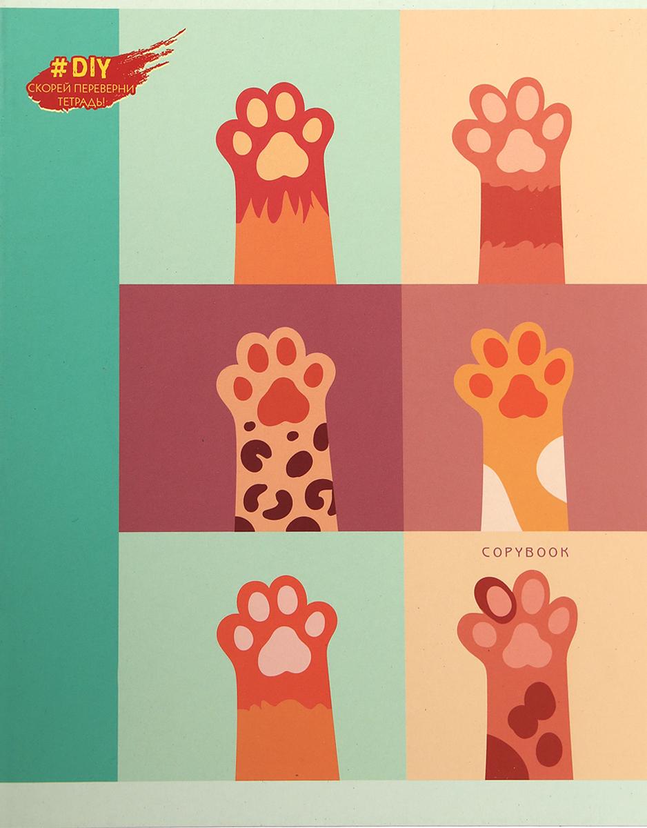 Unnika Land Тетрадь DIY collection Мягкие лапы 48 листов в клетку ТК485923_вид 4, Тетради  - купить со скидкой