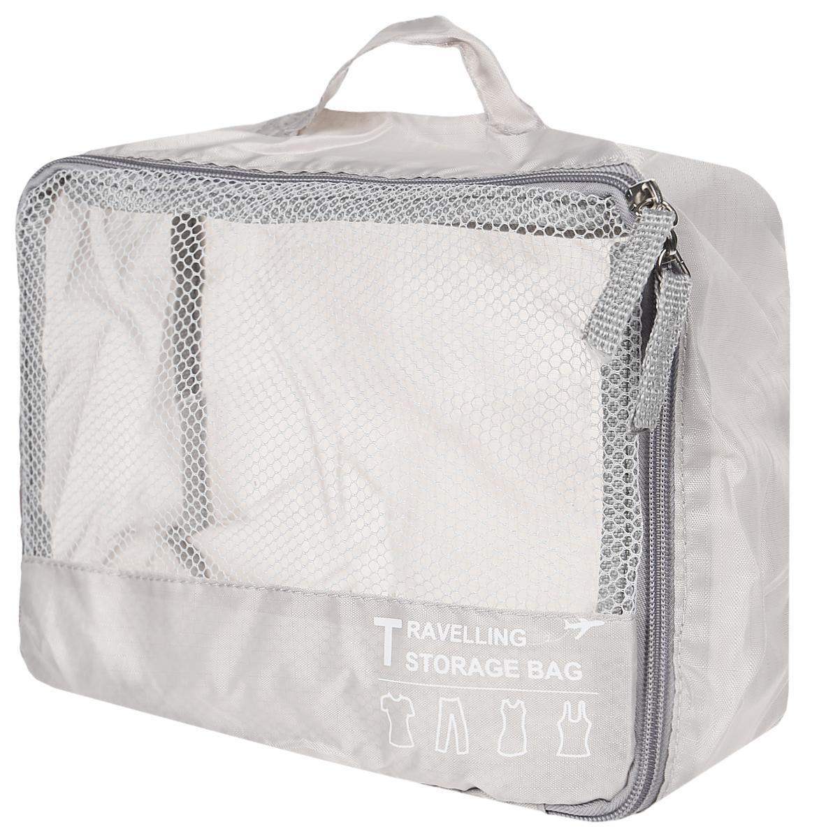 Компактный дорожный чехол - незаменимая вещь для хранения и переноски одежды во время командировок, путешествий и бизнес-поездок. Чехол защищает вещи от повреждений, пыли и грязи, препятствует возникновению зацепок, вещи не впитывают посторонние запахи. Чехол имеет окошко из сетки для просмотра содержимого и удобную ручку. Закрывается на молнию.