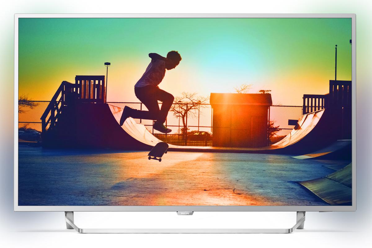 Philips 55PUS6412/12, Silver телевизор телевизор philips 48pft6300