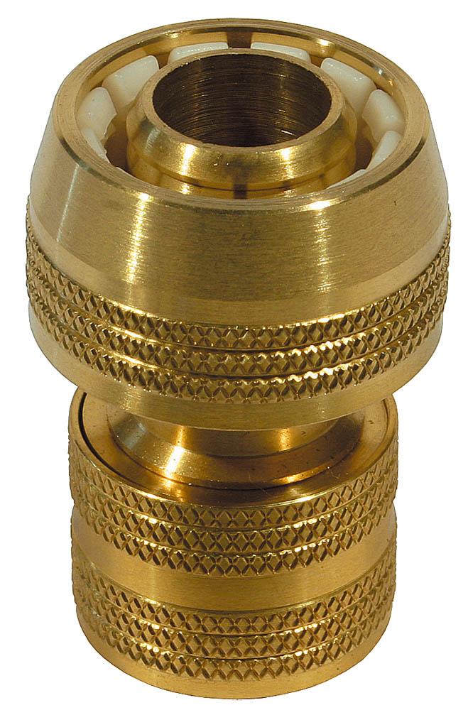 """Соединитель RACO применяется для быстрого и надежного соединения шланга диаметром 3/4"""" с любой насадкой. Высокое качество каждого изделия гарантирует продолжительный срок службы.Отсутствие резьбы обеспечивает быстрое и легкое соединение. Изделие совместимо с другими поливочными системами RACO, а также аналогичными системами других производителей.-Диаметр: 3/4""""; -Материал изделия: латунь; -Полировка покрытия: да."""